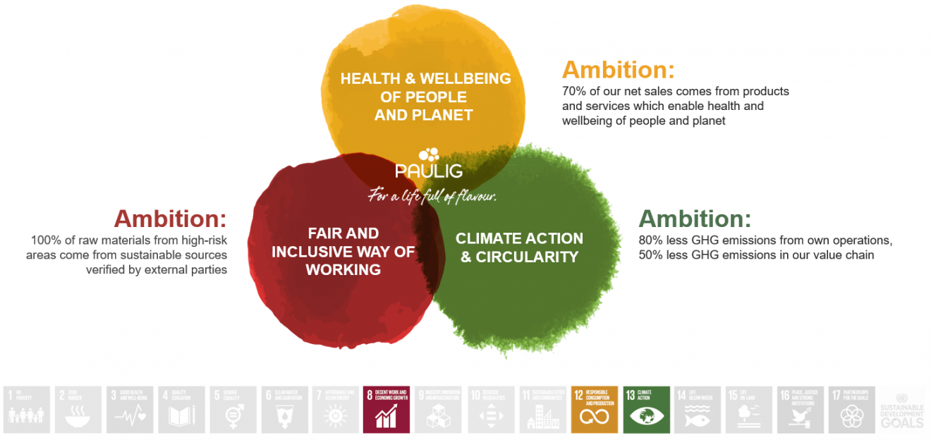 Three main goals in sustainability