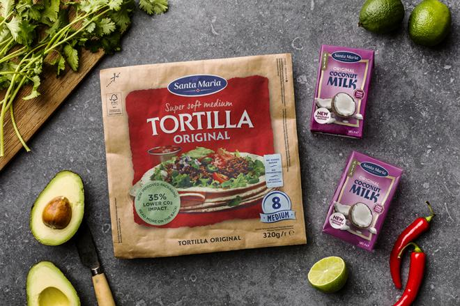 Santa Maria tortilla coconut milk